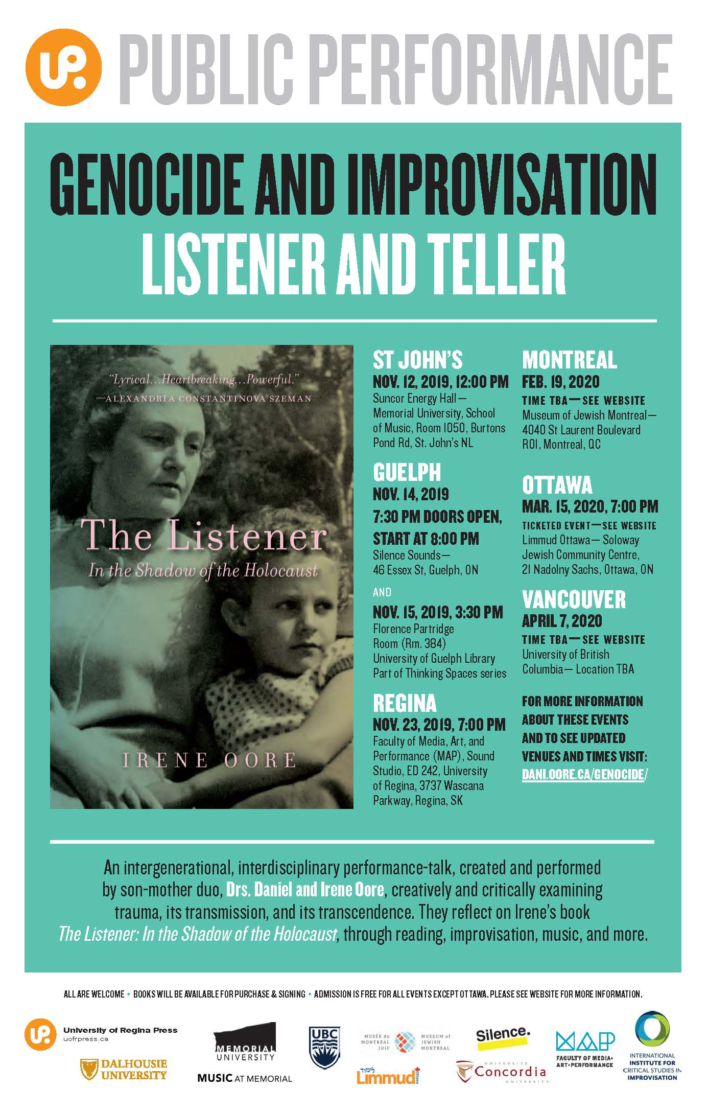The Listener performance Poster with active links