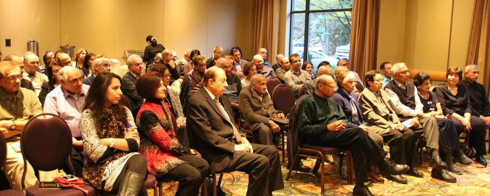 A packed and attentive audience attended the Vancouver book launch.